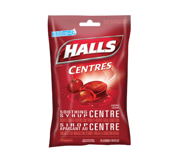 Image of product Halls - Halls Centres Cherry, 25 units, Bag
