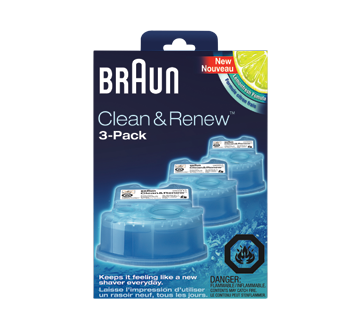 Image 2 of product Braun - Clean&Renew Cart Shaver Refills, 3 units