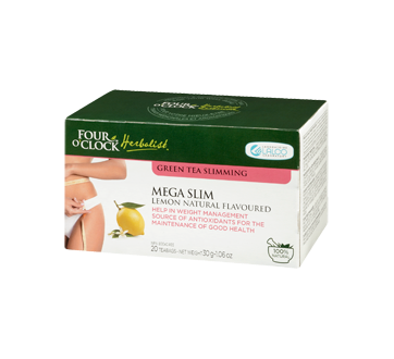 Image 1 of product Four O'Clock Herboriste - Green Tea Mega Slim Lemon Natural Flavoured, 20 units, Lemon natural flavour