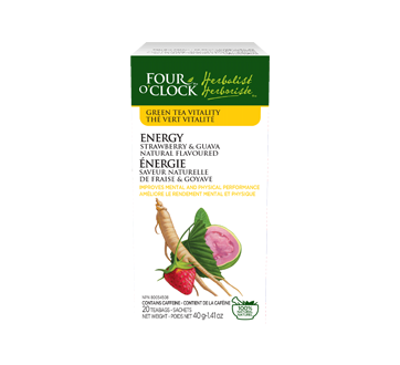 Image of product Four O'Clock Herboriste - Green Tea Energy, 20 units