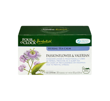 Image 1 of product Four O'Clock Herboriste - Herbal Tea Calm, 20 units, Passionflower & Valerian