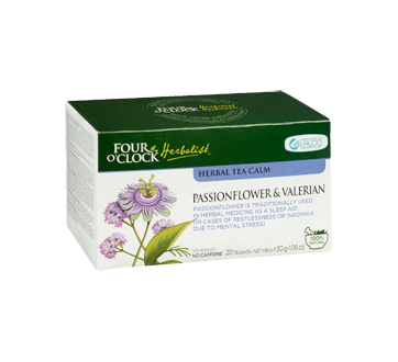 Image 2 of product Four O'Clock Herboriste - Herbal Tea Calm, 20 units, Passionflower & Valerian
