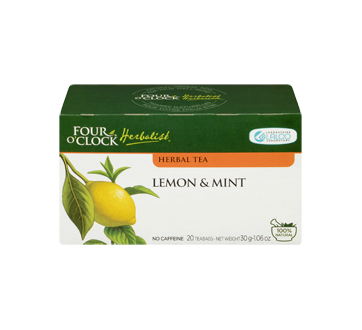 Image 3 of product Four O'Clock Herboriste - Herbal Tea, 20 units, Lemon & Mint