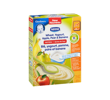 Image 2 of product Gerber - Gerber Wheat, Yogurt, Apple, Pear & Banana, 227 g
