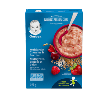 Gerber 5 Grain Cereal, 227 g, Cherries & Berries