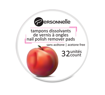 Image 1 of product Personnelle Cosmetics - Nail Polish Remover Pads, 32 units, Peach