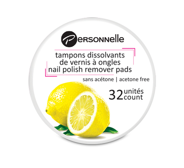 Image 1 of product Personnelle Cosmetics - Nail Polish Remover Pads, 32 units, Lemon