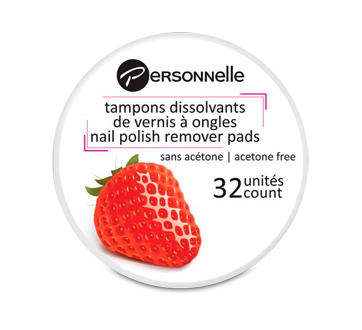 Image 1 of product Personnelle Cosmetics - Nail Polish Remover Pads, 32 units, Strawberry