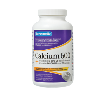 Image of product Personnelle - Calcium 600 + Vitamin D 800 IU and Minerals, 240 units