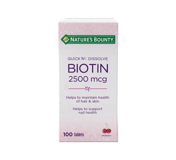 Image of product Nature's Bounty - Quick Dissolve Biotin 2500 mcg, 100 units
