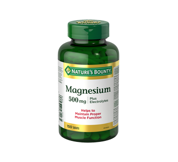 Image of product Nature's Bounty - Magnesium 500 mg Plus Electrolytes, 150 units