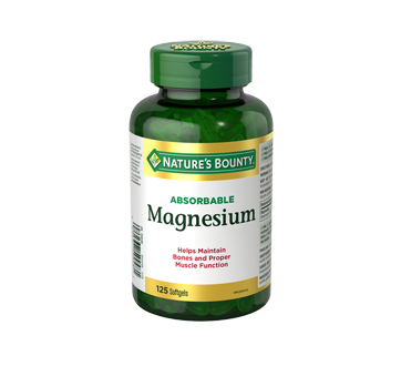 Image of product Nature's Bounty - Magnesium, 125 units