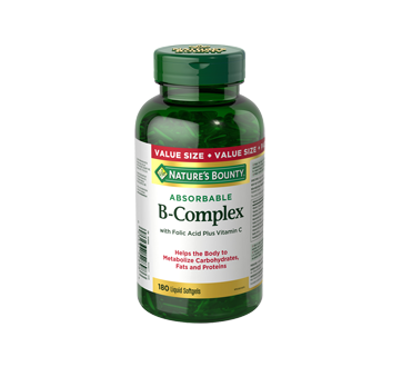 Image of product Nature's Bounty - B-Complex with Folic Acid Plus Vitamin C, 180 units
