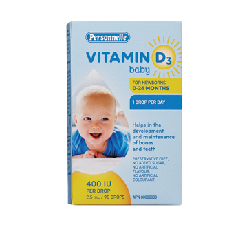 Image of product Personnelle - Vitamin D3 Baby 0-24 Months, 2.5 ml