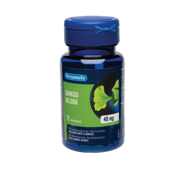 Image of product Personnelle - Ginkgo Biloba, Capsules 40 mg, 72 units