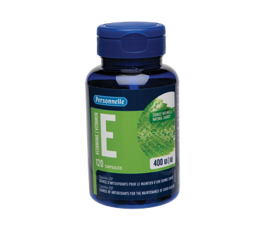 Image of product Personnelle - Vitamin E Natural Source, Capsules 400 IU, 120 units