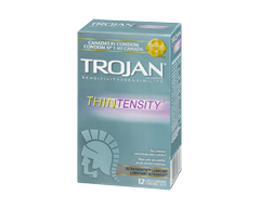Image of product Trojan - Thintensity Lubricated Condoms, 12 units