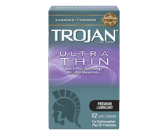 Image of product Trojan - Ultra Thin Lubricated Condoms, 12 units