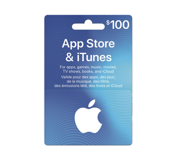 $100 App Store & iTunes Gift Card, 1 unit