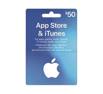 $50 App Store & iTunes Gift Card, 1 unit