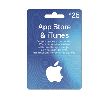 $25 App Store & iTunes Gift Card, 1 unit