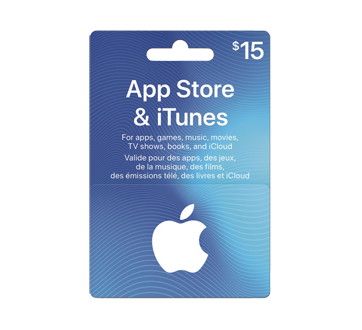 $15 App Store & iTunes Gift Card, 1 unit