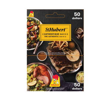 Image of product Incomm - $50 St-Hubert Gift Card, 1 unit