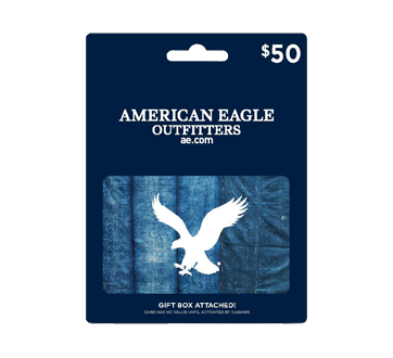 $50 American Eagle Outfitter Gift Card, 1 unit