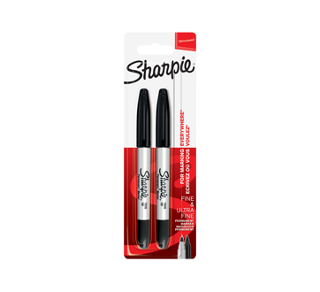 Twin-Tip Permanent Marker, 2 units