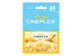Thumbnail of product Incomm - $25 Cineplex Gift Card, 1 unit