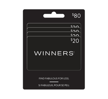 4 X $20 Winners Gift Card, 1 unit