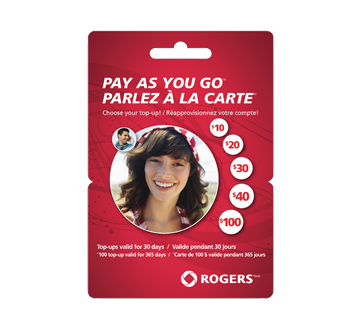 $20 Rogers Pay As You GoTM Prepaid Cell Cards, 1 unit