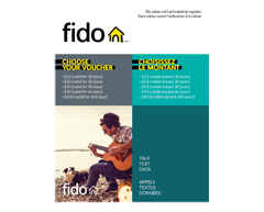 Image of product Incomm - $10 Fido Prepaid Cell Cards