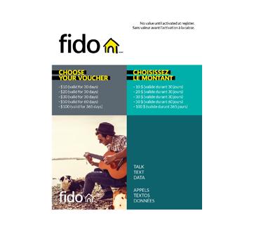 $10 Fido Top-Up Card, 1 unit
