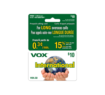 10 vox international 2 in 1 prepaid calling card 1 unit - Phone Card For International Calls