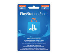 Image of product Incomm - $50 PlayStation® Store Gift Card
