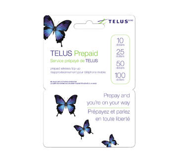50 telus prepaid cell cards 1 unit - Prepaid Cell Phone Cards