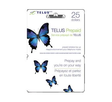 $25 TELUS Prepaid Cell Cards, 1 unit