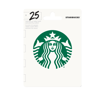25 starbucks gift card incomm other gift cards jean coutu 25 starbucks gift card negle Images