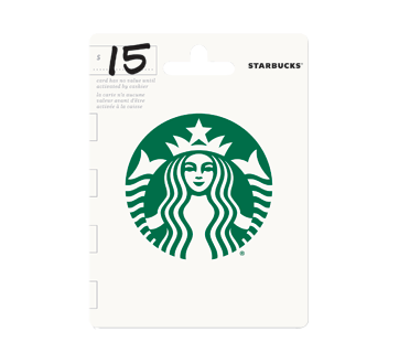 $15 Starbucks Gift Card, 1 unit