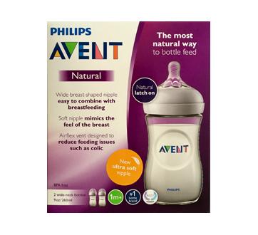 Natural Feeding Bottle, 2 x 260 ml