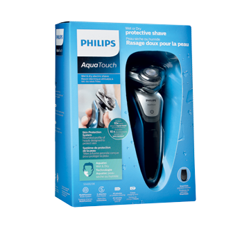 aquatouch wet and dry electric shaver 1 unit philips electric razor jean coutu. Black Bedroom Furniture Sets. Home Design Ideas