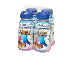 Image of product PediaSure - Pediasure Complete Nutritional Supplement, 4 x 235 ml, Strawberry