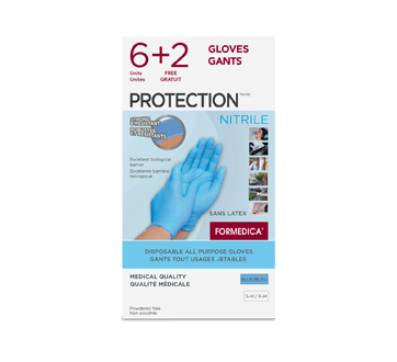 Image of product Formedica - Disposable All Purpose Gloves Protection - Latex, 6+2 units, Small/Medium, Cream