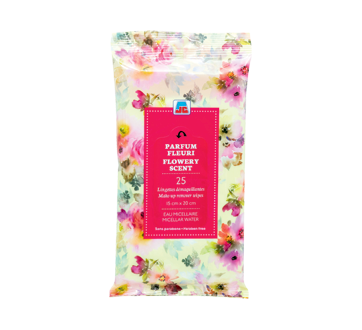Make-Up Remover Wipes, 25 units, Flowery Scent