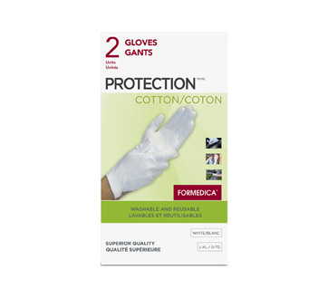 Image of product Formedica - Gloves Protection Cotton, 2 units, Large/X-Large, White