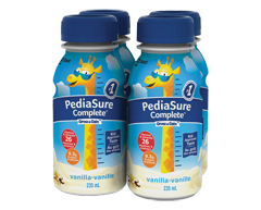 Image of product PediaSure - Pediasure Complete Nutritional Supplement, 4 x 235 ml, Vanilla