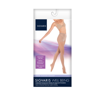 Image of product Sigvaris - Sheer Fashion for Women 120, Pantyhose, size A, Black