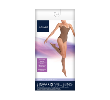 Image of product Sigvaris - Sheer Fashion for Women 120, Calf, size B, Black