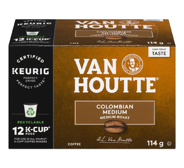 K-Cup Colombian Coffee Pods, 12 units, Medium
